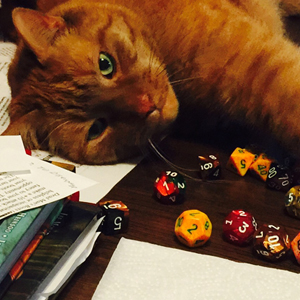 Evinrude and Dice. © Kayigh Jung. Used with permission.